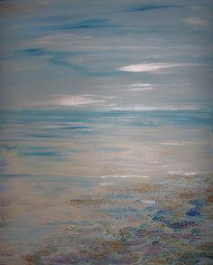 Original Soft Windy Skies Acrylic Seascape Painting by sherischart, $89.99