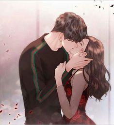 Christian Roth and Kira character couple inspiredby novel - Anime Wolf Couple Amour Anime, Couple Anime Manga, Anime Couple Kiss, Anime Cupples, Romantic Anime Couples, Fantasy Couples, Anime Couples Drawings, Anime Couples Manga, Cute Anime Couples