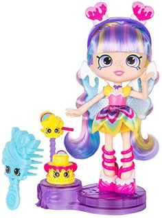 Shoppies Party Themed Doll - Rainbow Kate, Rainbow Kate comes with 2 exclusive Shopkins, Rainbow Wishes and Wanda Wand By Shopkins Shoppies Dolls, Shopkins And Shoppies, Girl Dolls, Barbie Dolls, Num Noms Toys, 6th Birthday Parties, Monster High Dolls, Toys For Girls, Petite Fille