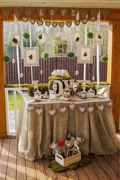 Оформление стола на свадьбу, на другие поводы )))