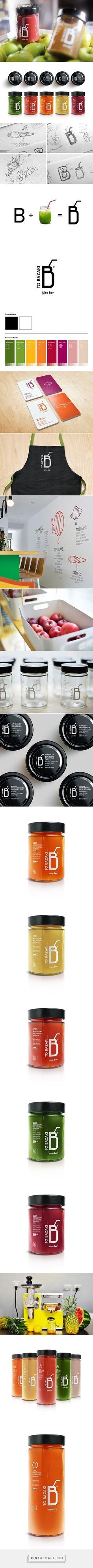 """TO BAZAKI"" Juice Bar – Design Identity. Designed by George Probonas. #Arts Design"