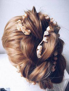 Rose Twig hairpins Set of 2.