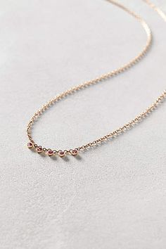 Ruby Dash Necklace in 14k Rose Gold - anthropologie.com #anthrofave  #anthropologie #AnthroFave