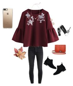 """""""Untitled #366"""" by lizakappil on Polyvore featuring RE/DONE, Kendra Scott, Tory Burch, Mark & Graham, TOMS, Rebecca Minkoff and Casetify"""