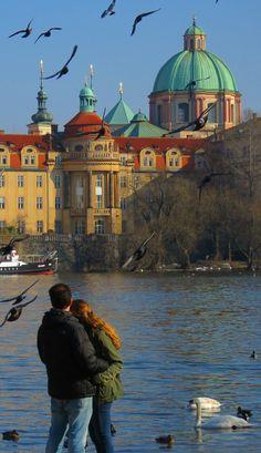 Views on the Vltava river: http://bbqboy.net/photo-essay-keep-falling-love-prague/ #prague #czechrepublic