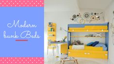 Maximize your floor and keep up the style as well by placing Belvisi & offers a huge variety of bunk beds as per your needs. Visit us today. Childrens Bedroom Furniture, Kids Room Furniture, Kitchen Furniture, Kids Bedroom, Funky Bedroom, Modern Bedroom, Modern Bunk Beds, Kids Bunk Beds, Modern Kids
