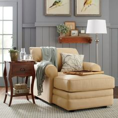 Classically styled and plush, the Newton Chaise is ideal for creating a cozy spot to relax. With rolled arms, a loose back pillow, and welted details, its look represents clean and simple design at its best.