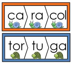 Palabras de tres silabas: 100 rompecabezas