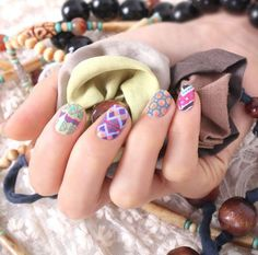 Ethnic mode nail sticker,16 patchs, color nailpatch