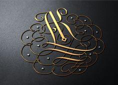 Calligraphy Logo, Typography Logo, Typography Design, Wedding Logo Design, Wedding Logos, Wedding Initials, Initials Logo, Ak Logo, Latest Kurta Designs