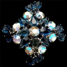 On Sale Juliana Blue Rhinestone Brooch by TheJewelryLadysStore