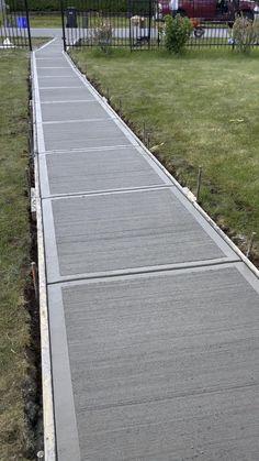 Concrete Patio Designs, Concrete Stairs, Concrete Driveways, Concrete Garden, Concrete Floors, Cement Driveway, Driveway Design, New Home Construction, Residential Construction
