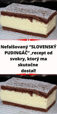 Czech Recipes, New Recipes, Ethnic Recipes, No Bake Cake, Yummy Treats, Cheesecake, Dessert Recipes, Food And Drink, Pudding