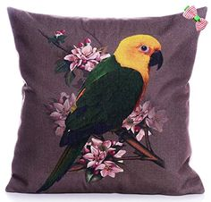 Caryko Home Decor Cotton Linen Square Pillow Case Cushion Cover (Dark-Parrot) Caryko http://www.amazon.com/dp/B00YSHA35I/ref=cm_sw_r_pi_dp_BAgCvb11G1T4Z