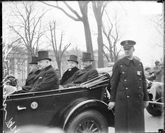President Calvin Coolidge and Herbert Hoover sitting in the back seat of a convertible automobile. Photo by Chicago Sun-Times/Chicago Daily News collection/Chicago History Museum/Getty Images American Presidents, Us Presidents, Calvin Coolidge, Dry Sense Of Humor, Herbert Hoover, Chicago History Museum, John Calvin, Chicago Sun Times, Rare Pictures