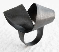 Hug me ring with pearl, , by Vero Lázár, oxidised silver, sweet water pearl, big statement ring, Design jewelry, art jewelry, contemporary jewelry, elegant simplicity Jewelry Art, Jewelry Design, Water Pearls, Statement Rings, Baroque, Hug, Cuff Bracelets, Handmade Jewelry, Romantic