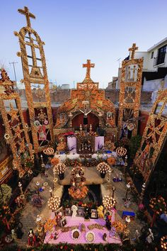 Ofrenda del Día de Muertos.  México.
