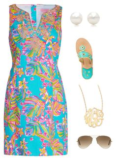 """Wishing for warm weather!"" by blonde-prepster ❤ liked on Polyvore featuring Tiffany & Co., Lilly Pulitzer, Jack Rogers, Jennifer Zeuner and Ray-Ban"