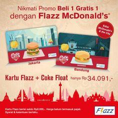 McDonalds Promo Flazz BCA http://www.perutgendut.com/read/mcdonalds-promo-flazz-bca/2392 #Promo #Food #Kuliner #Indonesia