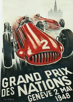 Posters - Grand Prix des Nations Genève 2 mai 1948.