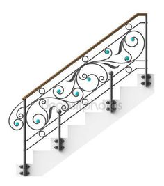 Baixar - Corrimão de escada de ferro forjado — Imagem de Stock #21082411