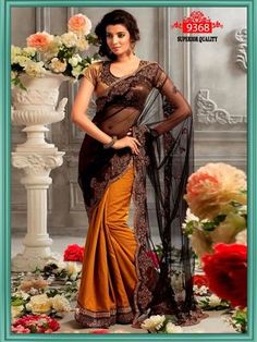 Black Rusty Saree 9368 Bollywood Sarees Online on Shimply.com