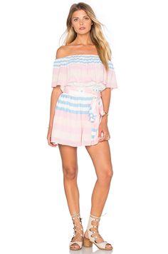 MARA HOFFMAN Off The Shoulder Romper. #marahoffman #cloth #dress #top #shirt #pant #coat #jecket #jacket #shorts #ski