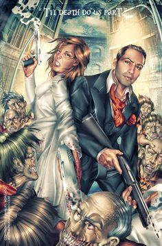 OMG! I was JUST mentioning this as a kickass wedding idea, where everyone else was zombies but the bride and groom and boom. Here ya go!