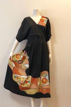 Vintage Kimono, Older Women Fashion, Womens Fashion, Kimono Design, Kimono Dress, Schneider, Kimono Fashion, African Dress, Refashion