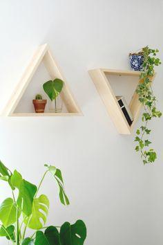 HOME | diy | triangle shelves