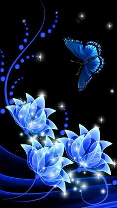 Iphone Wallpapers Background Lock Screens Blue Butterfly
