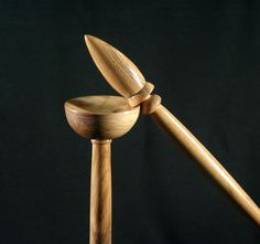 Reserved for knottynaomi - Russian Spindle and Lap Bowl - Olive