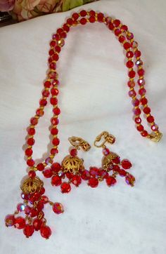 Magnificent Vintage Ruby Red Sizzlingly Radiant AB by vintagelady7