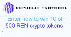 Enter now to win 10 REN crypto tokens #REN #RepublicProtocol #cryptocurrency #Crypto #CryptocurrencyNews #Altcoins #altcoinexchange @republicorg