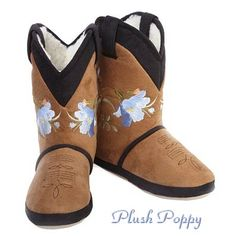 Cowgirl Boot Slippers! I ordered these, not only are they fun but really great when the floor is cold and sturdy enough to wear outside briefly.