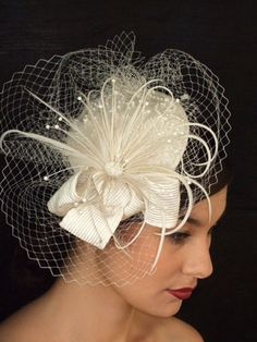 Fascinator - austrian inspired -maybe I can do something like this, dark colors with what I have...