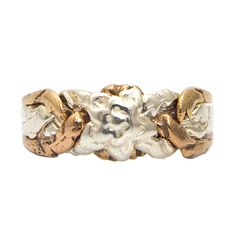 925k Sterling Silver and Bronze 4 Band Turkish Rose Design Puzzle Ring  #Allpuzzlerings #Band