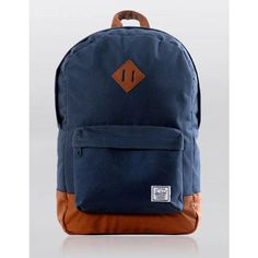 Herschel Supply Co. Herschel Supply Heritage Backpack - Navy Blue/Tan ($86) ❤ liked on Polyvore