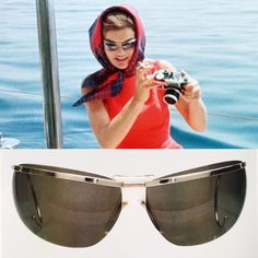 Jackie Kennedy bought these Renauld of France sunglasses during her trip to Europe in 1951. The picture above of her wearing the sunglasses was taken during her and Caroline's trip to Ravello, Italy in August 1962.