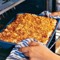 Au Gratin Potato Casserole Recipe - just like grandma's cheesy cornflake potatoes