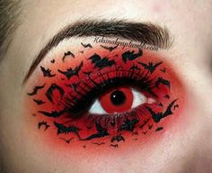 Easy Halloween Make Up Ideas for Men and Women - Beauty and the Mist Halloween 2018, Halloween Make Up, Halloween Costumes, Halloween Bats, Spirit Halloween, Spooky Halloween, Adult Costumes, Eye Makeup Art, Eye Art