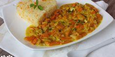 Mrkvové kari so šošovicou a ryža Vegetarian Recipes, Healthy Recipes, Chana Masala, Guacamole, Kids Meals, Curry, Good Food, Food And Drink, Veggies