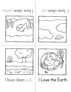 A free Earth Day mini-book from ABC Schoolhouse.... - Re-pinned by @PediaStaff – Please Visit http://ht.ly/63sNt for all our pediatric therapy pins