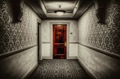 Door 217 at the Stanley Hotel in Estes Park, Colorado. Stephen King wrote much of The Shining while staying in this room. Scary Places, Haunted Places, Abandoned Places, Scary Things, Creepy Stuff, Haunted Hotel, Most Haunted, The Stanley Hotel, Estes Park Colorado