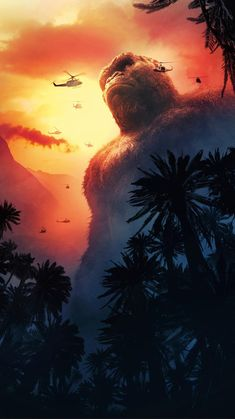 King Kong Art Silk Poster Living Room Print Inch Customize Your Movie Wall Picture King Kong Skull Island, King Kong Vs Godzilla, Gorilla Tattoo, Godzilla Wallpaper, Living Room Prints, Cool Monsters, Monster High, Cool Pictures, Images