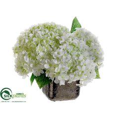 Hydrangea - White Green - Pack of 4 - (CRG/HW-234BHLS) | silkplantsdirect.com
