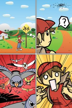 A cutscene from @PandorasToyboxG's Feathered Attack! Forum #gamesinitaly #indiegames #videogames