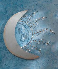 Another great find on #zulily! Celestial Sun & Moon Light-Up Wall Décor #zulilyfinds