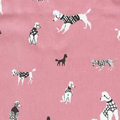 Poodle Print Fabric by Angel Song Textile Patterns, Textile Prints, Print Patterns, Textiles, Stuffed Animal Patterns, Baby Design, Poodle, Doggies, Cute Cats