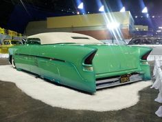 Classic lowrider in green